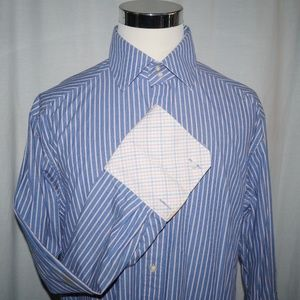 Robert Graham Mens XL R&G Striped Button Dress Shi